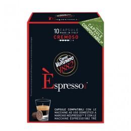 Капсулы для кофемашин NESPRESSO, Cremoso, натуральный кофе, 10 шт. х 5 г, VERGNANO, 8001800005488