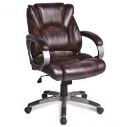 Кресло офисное BRABIX Eldorado EX-504, экокожа, коричневое, 530875
