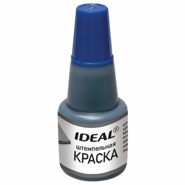 Краска штемпельная TRODAT IDEAL синяя 24 мл, на водной основе, 7711с, 153079