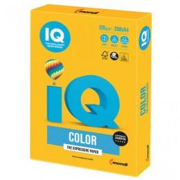 Бумага IQ color, А4, 120 г/м2, 250 л., интенсив, солнечно-желтая, SY40