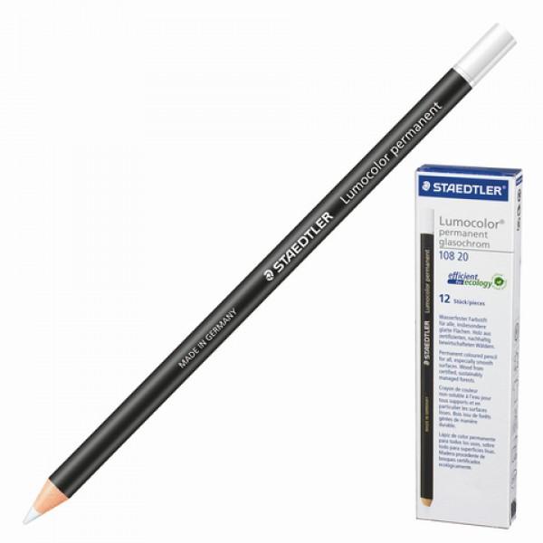Маркер-карандаш сухой перманентный для любой поверхности STAEDTLER, БЕЛЫЙ, 4,5 мм, 108 20-0