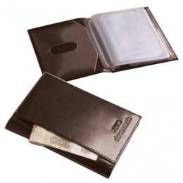 Бумажник водителя BEFLER Classic, натуральная кожа, тиснение, 6 пластиковых карманов, коричневый, BV.25.-1