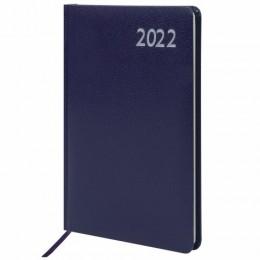 Еженедельник датированный 2022 А5 (145х215мм) BRAUBERG Profile, балакрон, синий, код_, 112879