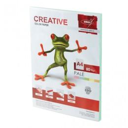 Бумага CREATIVE color (Креатив) А4, 80 г/м2, 100 л., пастель зеленая, БПpr-100з