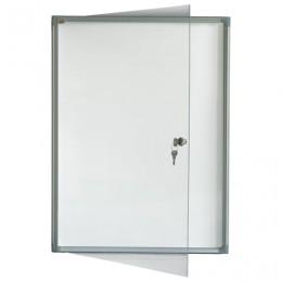 Доска-витрина магнитно-маркерная, 2 листа А4, алюминиевая рамка, OFFICE,