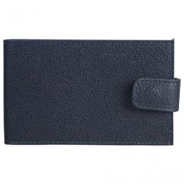 Визитница карманная BEFLER Грейд, на 40 визиток, натуральная кожа, на кнопке, синяя, V.31.-9