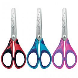 Ножницы MAPED (Франция) Start Soft, 130 мм, прорезиненные ручки, ассорти, картонная упаковка с европодвесом, 464410