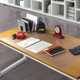 Коврик-подкладка настольный для письма сверхпрочный 500х1200 мм, прозрачный, 1 мм, BRAUBERG, 237372