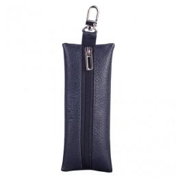 Футляр для ключей BEFLER Грейд, натуральная кожа, на молнии, 135x55 мм, синий, KL.8.-9