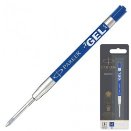Стержень гелевый PARKER Quink Gel, металлический, 98 мм, линия письма 0,7 мм, блистер, синий, 1950346