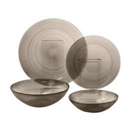 Набор посуды столовый, 20 предметов, дымчатое стекло, Louison Eclipse, LUMINARC, N8081