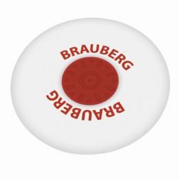 Ластик BRAUBERG Energy, 30х30х8 мм, белый, круглый, термопластичная резина, пластиковый держатель, 222472