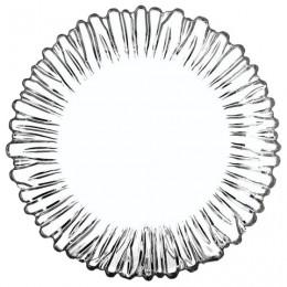 Набор тарелок, 6 шт., диаметр 205 мм, фигурное стекло,