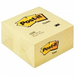 Блок самоклеящийся (стикер) POST-IT ORIGINAL 76х76 мм, 450 л., желтый, 636-В, 636-B