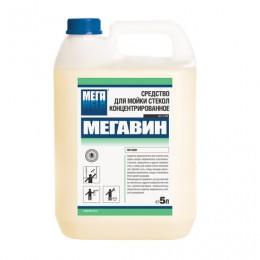Средство для мытья стекол и зеркал 5 л, МЕГАВИН, концентрат, Н 521