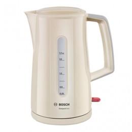 Чайник BOSCH TWK3A017, 1,7 л, 2400 Вт, закрытый нагревательный элемент, пластик, бежевый