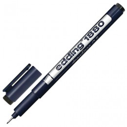 Ручка капиллярная EDDING DRAWLINER 1880, ЧЕРНАЯ, толщина письма 0,3 мм, водная основа, E-1880-0.3/1