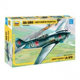 Модель для склеивания САМОЛЕТ Истребитель советский Ла-5ФН, масштаб 1:72, ЗВЕЗДА, 7203