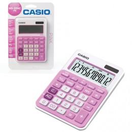 Калькулятор CASIO настольный MS-20NC-PK-S, 12 разрядов, двойное питание, 150х105 мм, блистер, белый/розовый, MS-20NC-PK-S-EC