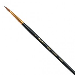 Кисть художественная ROUBLOFF (Рублев), синтетика, жесткая, круглая, № 4, короткая ручка, ЖС1-04,00Ж