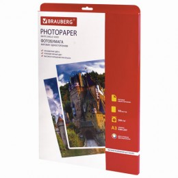Фотобумага для струйной печати БОЛЬШОГО ФОРМАТА, A3, 200г/м2, 50л, одност. матовая, B, 363323