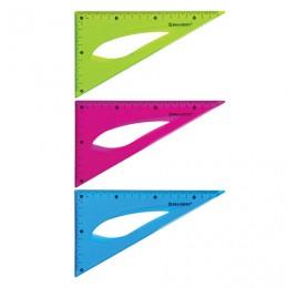 Треугольник 30х18 см гибкий BRAUBERG FLEX, пластиковый, ассорти, европодвес, 210677
