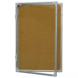 Доска-витрина пробковая, 90x60 см, алюминиевая рамка, OFFICE,