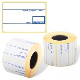Этикетка ТермоЭко, для термопринтера и весов, 58х40х700 шт. (ролик), с препринтом, светостойкость до 2 месяцев, 122302