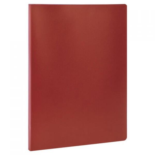 Папка с металлическим скоросшивателем STAFF, красная, до 100 листов, 0,5 мм, 229226