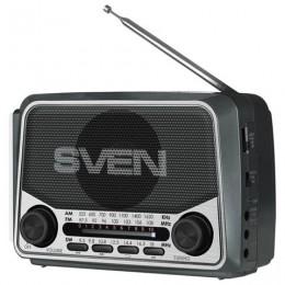 Радиоприёмник SVEN SRP-525, 3 Вт, FM/AM/SW, USB, microSD, аккумулятор, 150-20000 Гц, черный, SV-017156