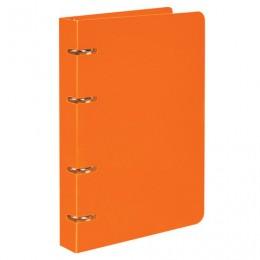 Тетрадь на кольцах А5 (160х215 мм), 80 л., пластиковая обложка, клетка, BRAUBERG, Оранжевый, 403253
