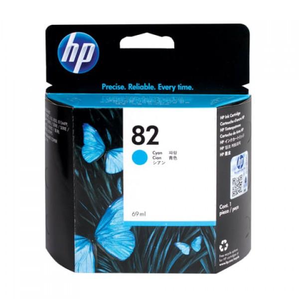 Картридж струйный для плоттера HP (C4911A) Designjet 510/CC800PS/ 815/820 и др., №82, голубой, 69 мл, оригинальный