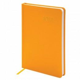 Ежедневник датированный 2022 А5 (138х213мм) BRAUBERG Select желтый, 112779