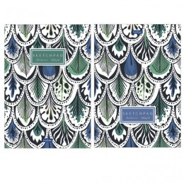 Скетчбук, белая бумага 100 г/м2, 145х205 мм, 40 л., склейка, Pattern, 40Б5лAк