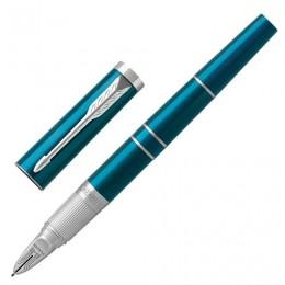 Ручка Пятый пишущий узел PARKER Ingenuity Deluxe Green CT, корпус изумрудный, хромированные детали, черная, 1972231