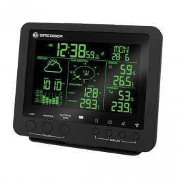 Метеостанция BRESSER 5 в 1, термодатчик, гигрометр, барометр, ветромер, дождемер, будильник, черный, 73260