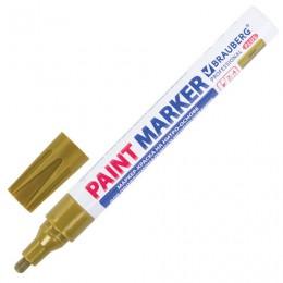 (СКОРО ПРИДЕТ) Маркер-краска лаковый (paint marker), 2-4 мм, золотой, НИТРО-ОСНОВА, алюминиевый корпус, BRAUBERG PRO, 151449