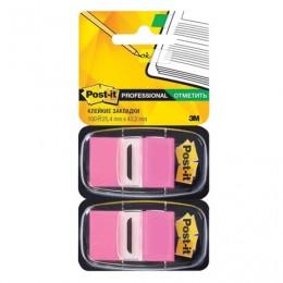 Закладки клейкие POST-IT Professional, пластиковые, 25 мм, 100 шт., розовые, 680-BP2