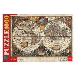 Пазл STANDARD, 1000 элементов, А2, Старинная карта мира, 450х680 мм, 1000ПЗ2 14500, U200841