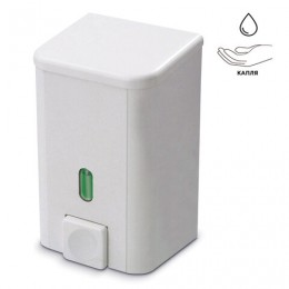 Диспенсер для жидкого мыла PRIMA NOVA, наливной, белый, 0,5 л, SD01