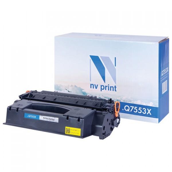 Картридж лазерный NV PRINT (NV-Q7553X) для HP LaserJet 2015/2015n/2014 и другие, ресурс 7000 стр.