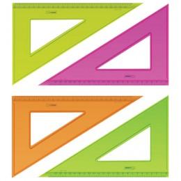 Треугольник пластиковый 30х23 см, СТАММ Neon Crystal, тонированный, прозрачный, неоновый, ассорти, ТК54