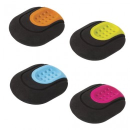 Ластик BRAUBERG C-Grip, 46*39*12,5 мм, черный, держатель ассорти, термопластичная резина, 228063