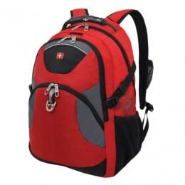 Рюкзак WENGER, универсальный, красно-черный, серые вставки, 26 л, 34х17х47 см, 3259112410