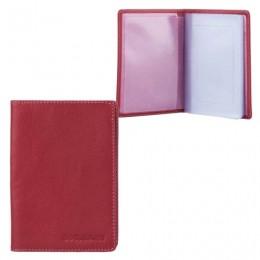 Бумажник водителя FABULA Every day, натуральная кожа, тиснение, 6 пластиковых карманов, ягодный, BV.53.FP