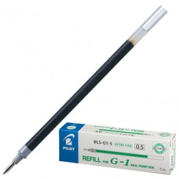 Стержень гелевый PILOT, 128 мм, ЗЕЛЕНЫЙ, узел 0,5 мм, линия письма 0,3 мм, BLS-G1-5