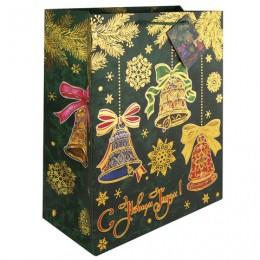 Пакет подарочный ламинированный, 26х32,4х12,7 см,