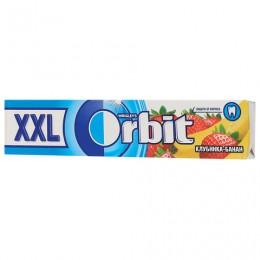 Жевательная резинка ORBIT (Орбит) XXL Клубника-банан, 15 подушечек, 20,4 г, 46146632