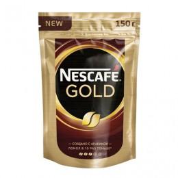 Кофе молотый в растворимом NESCAFE (Нескафе) Gold, 150 г, мягкая упаковка, 12326223
