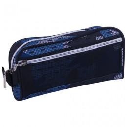 Пенал-косметичка BRAUBERG с ручкой, карман из сетки, полиэстер, Storm, 20х6х9 см, 229275